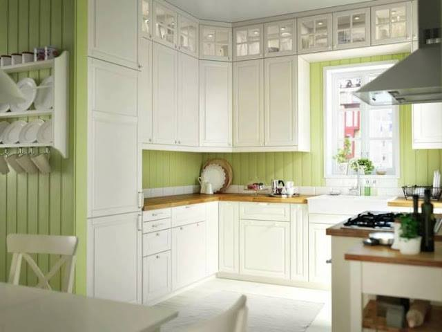 Light kitchen interior design