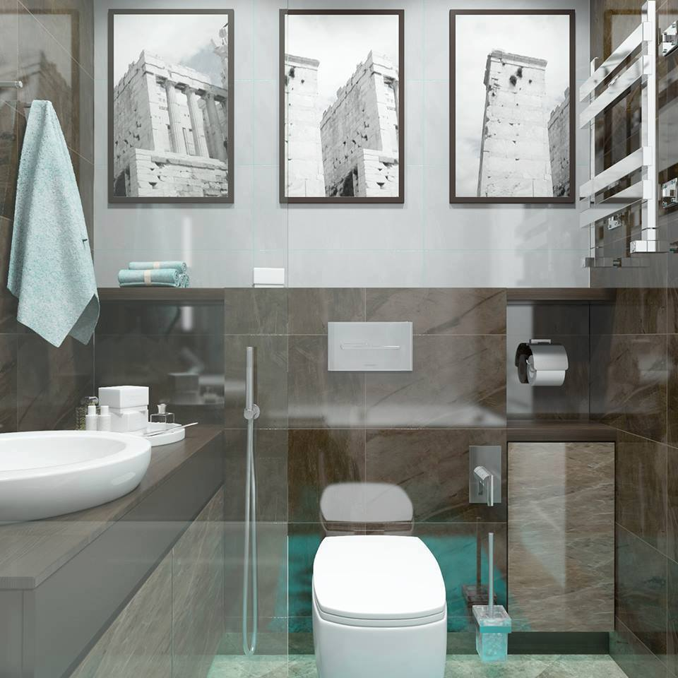 Modern bathroom design for apartment