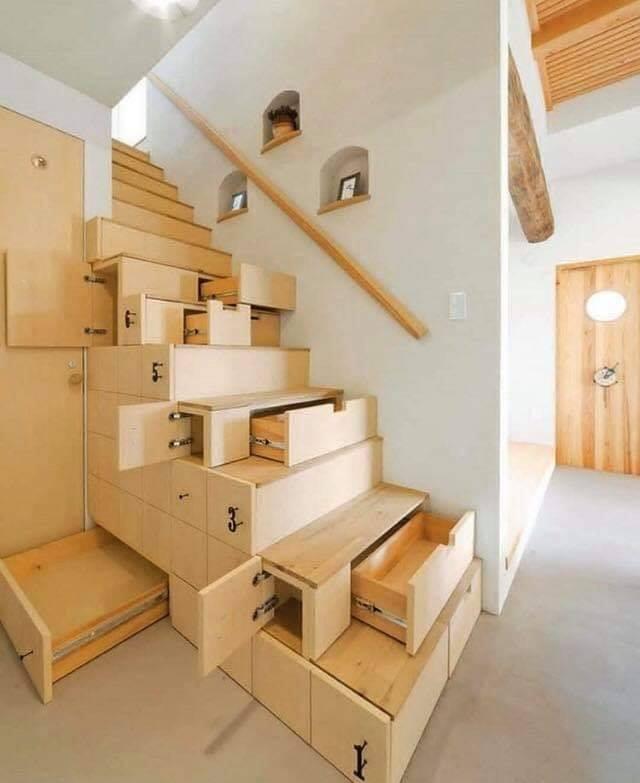 Unusual interior staircase design example