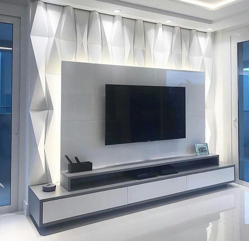 TV standing in a bigger space