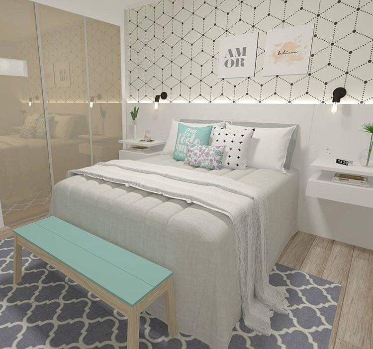 Unique bedroom design plan
