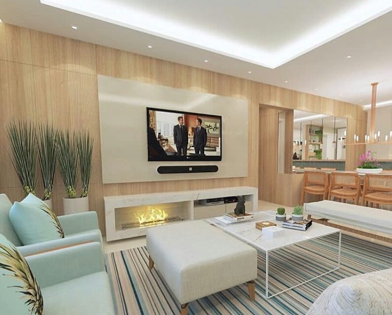 TV standing idea for living room of a house