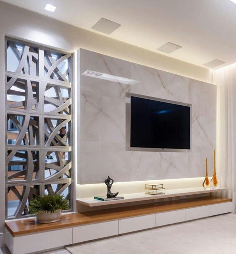 Tiled TV wall idea
