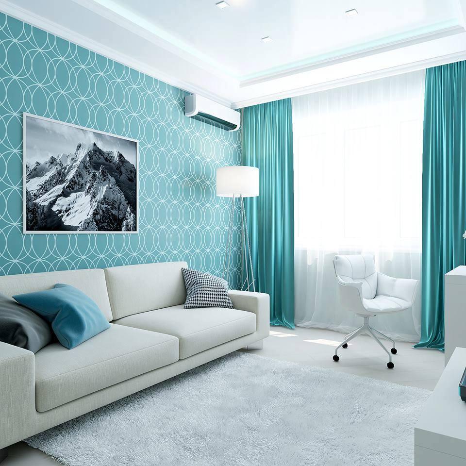 Apartment living room interior design idea