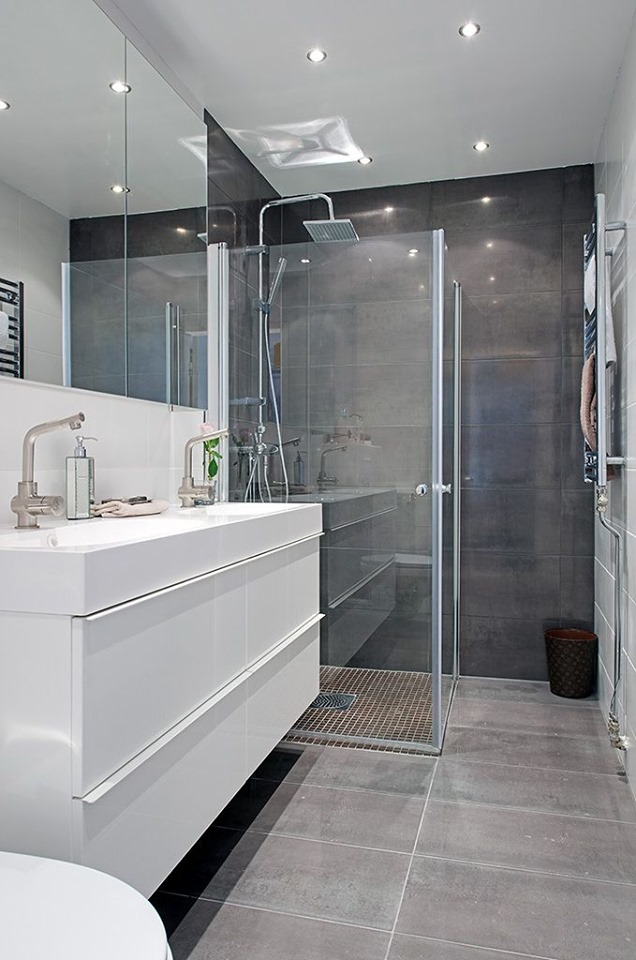 grey white bathroom designs