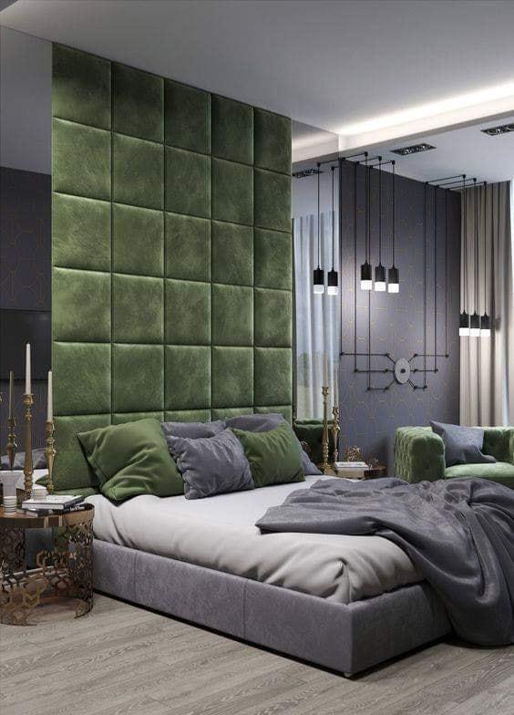 Home bedroom with headboard