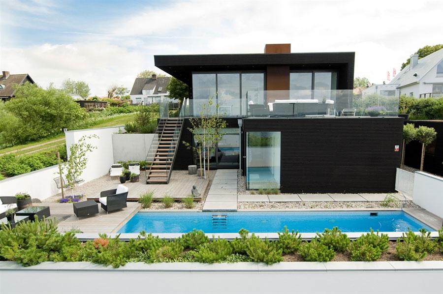 Modern beach house drawing