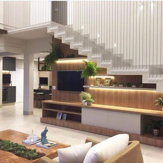 Staircase inside living room ideas