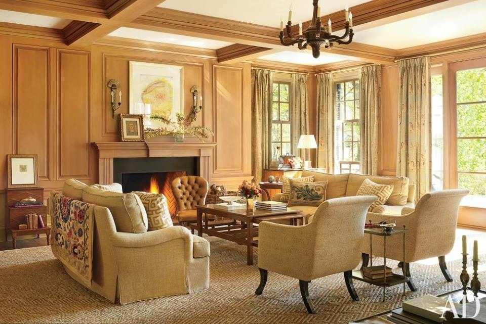 Southern style interior design living room