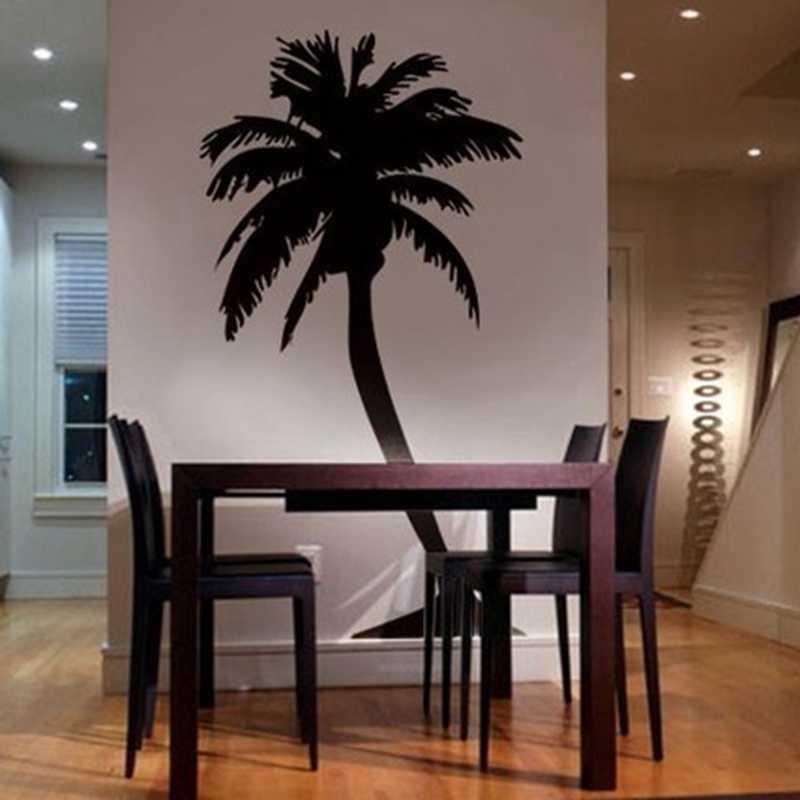 Black wall sticker palm tree
