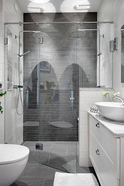 grey and white bathroom small