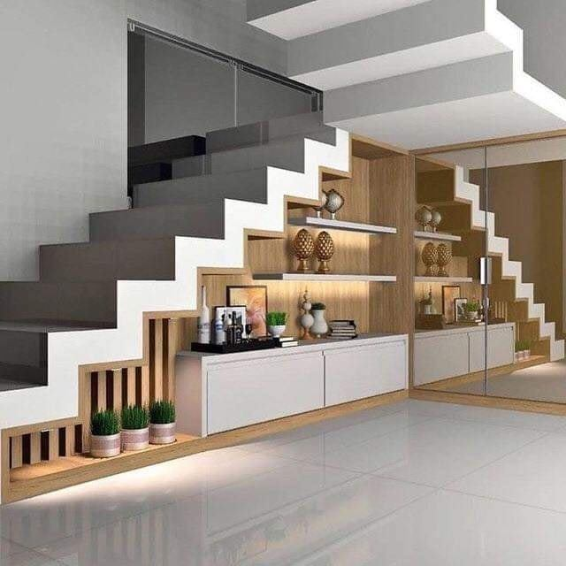 Use the space under stairs