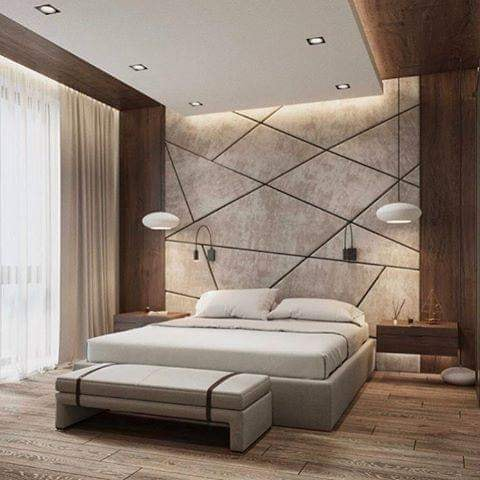 Bedroom with headboard