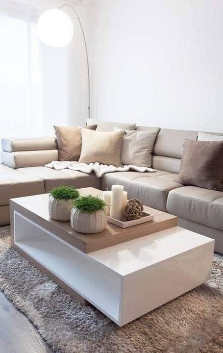 Table design for a modern living room