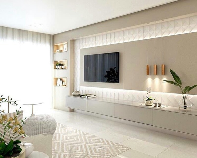 Modern TV unit standing in a luxurious house