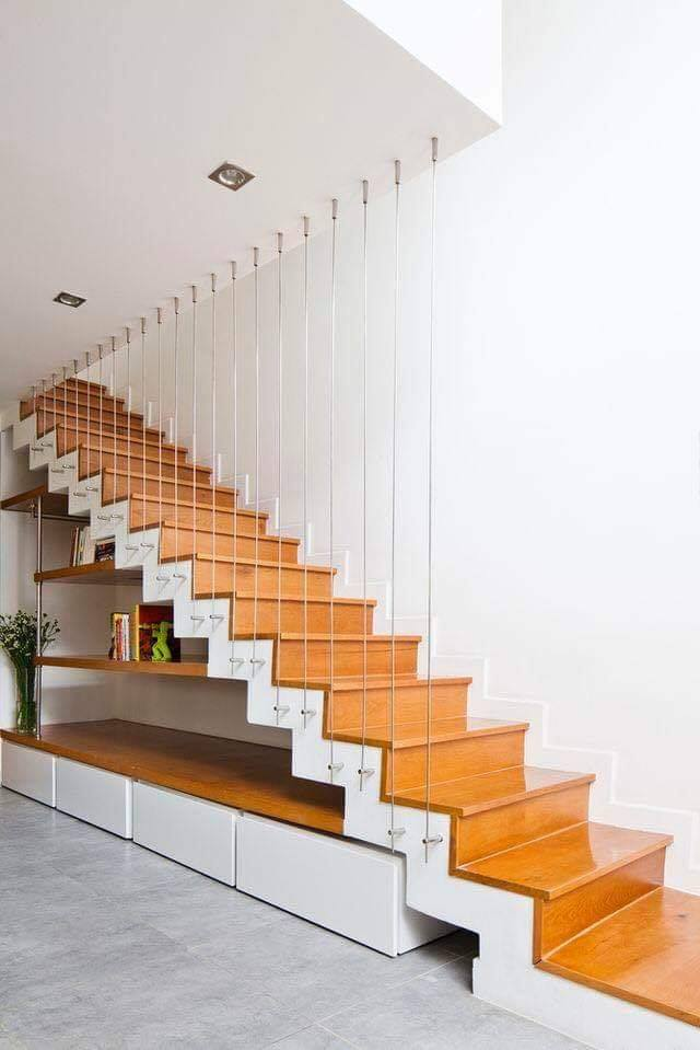 Town house design of stairs