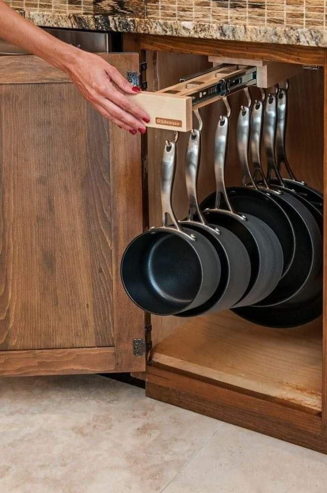 Kitchen pot storage ideas