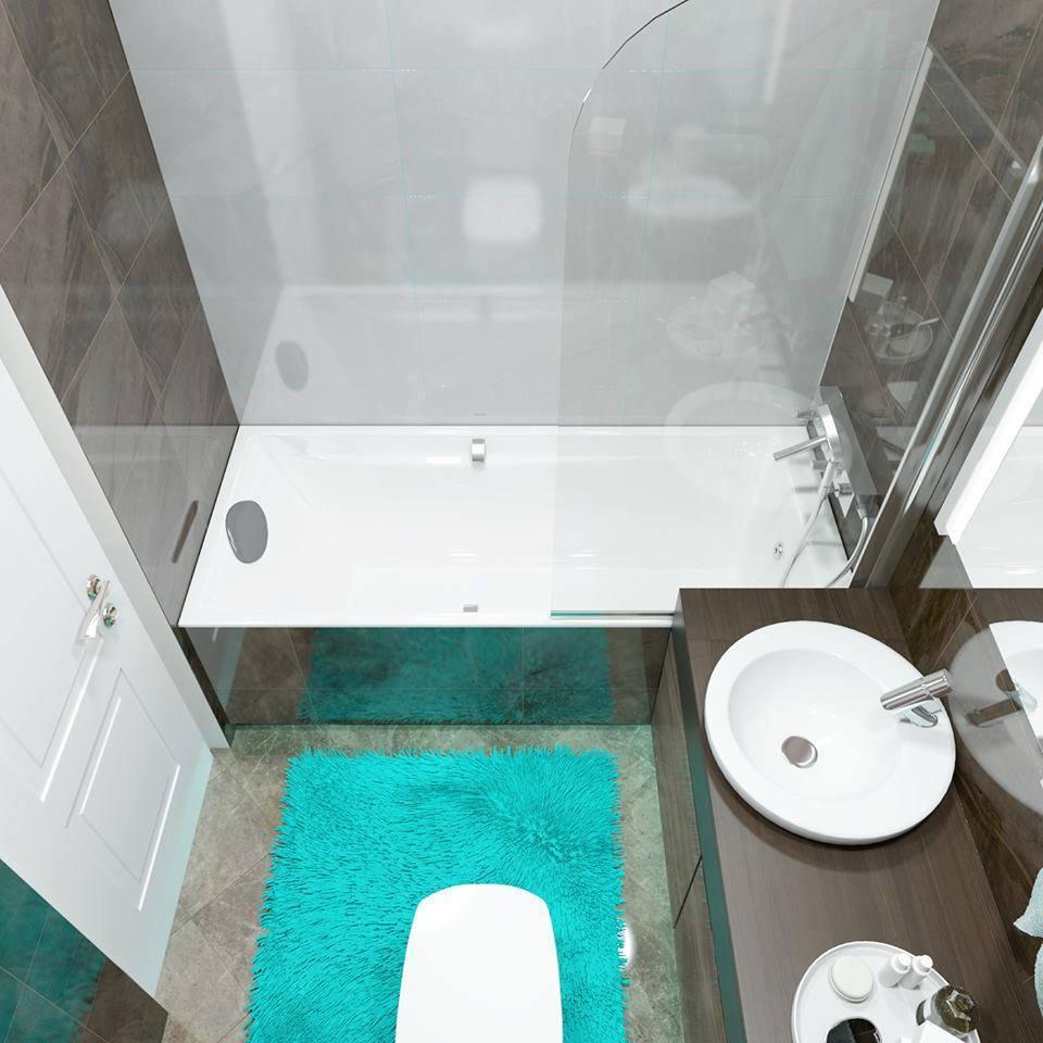 Bathroom design for apartments