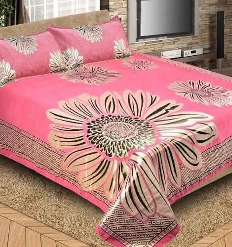rose color bed-sheet