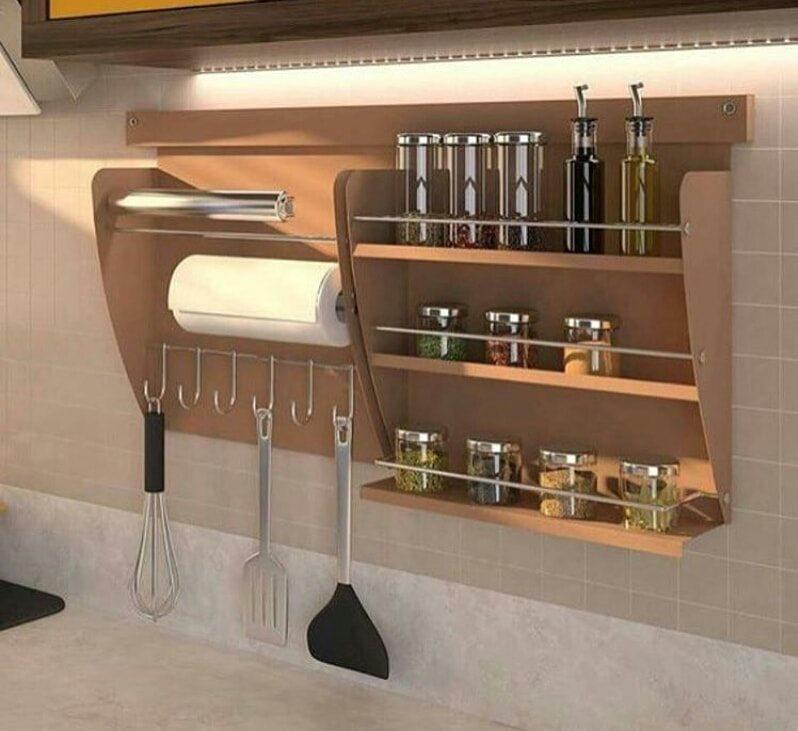 simple kitchen storage design