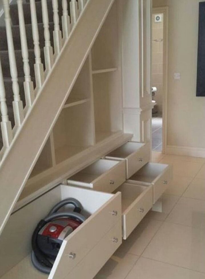 nice storage design under stairs