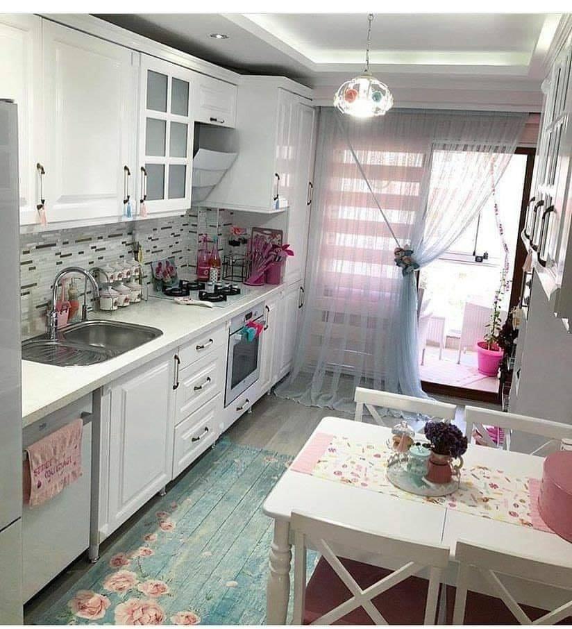 small village spring kitchen
