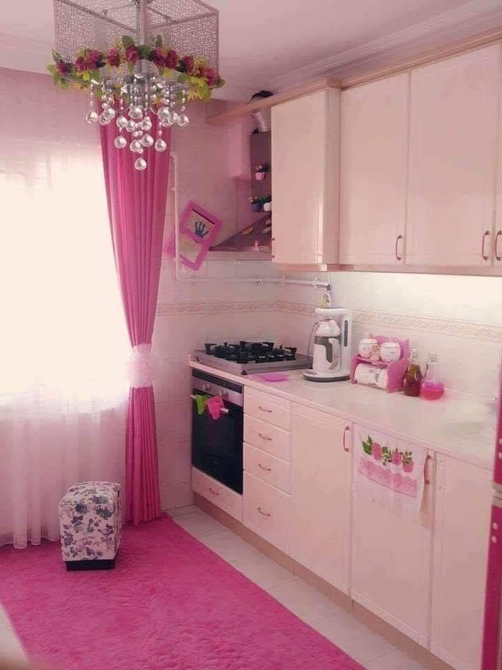 rose color kitchen for kids
