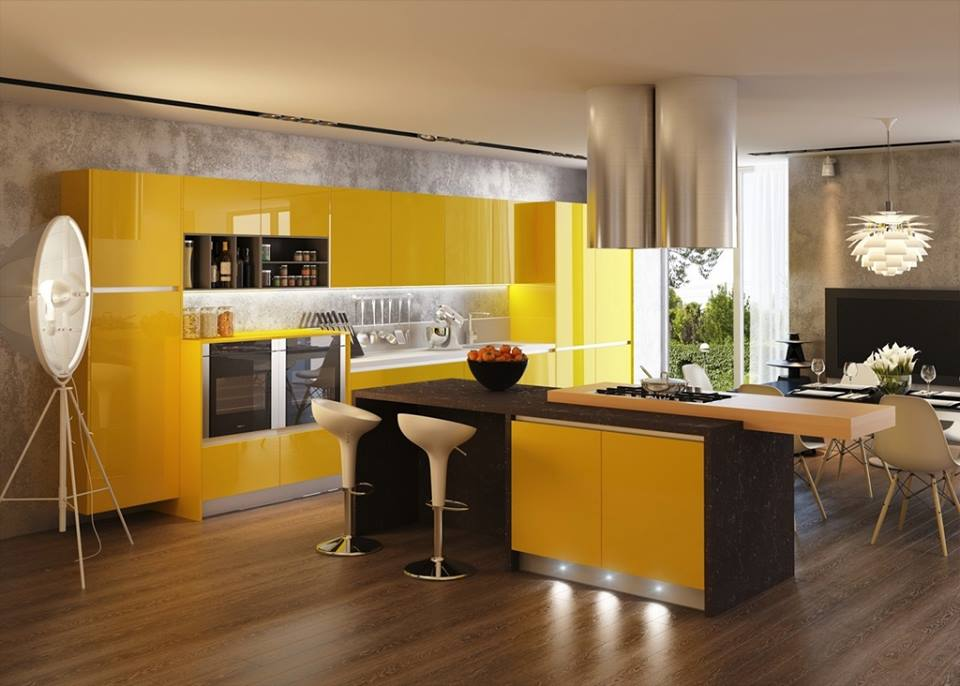 Awesome yellow kitchen decoration