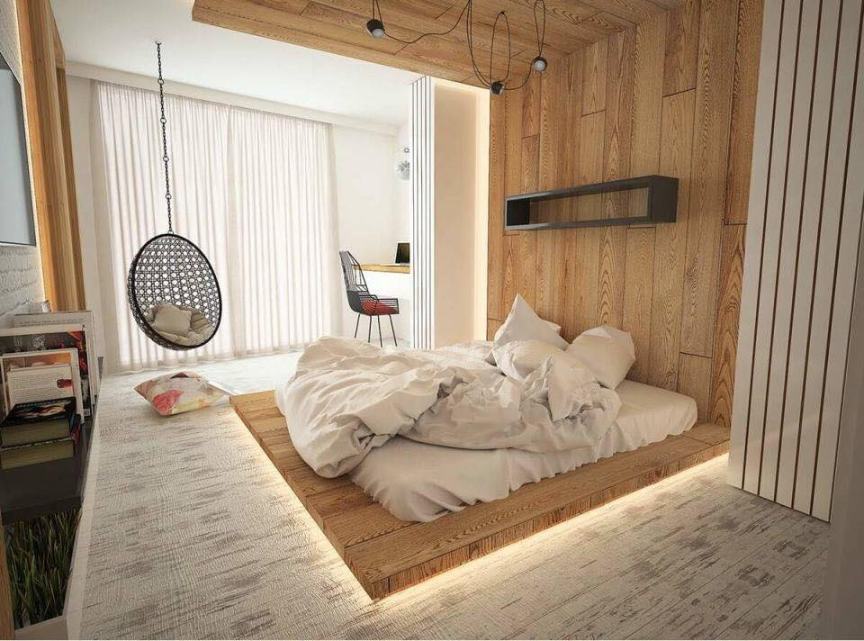 Hotel bedroom design with Arabic wood