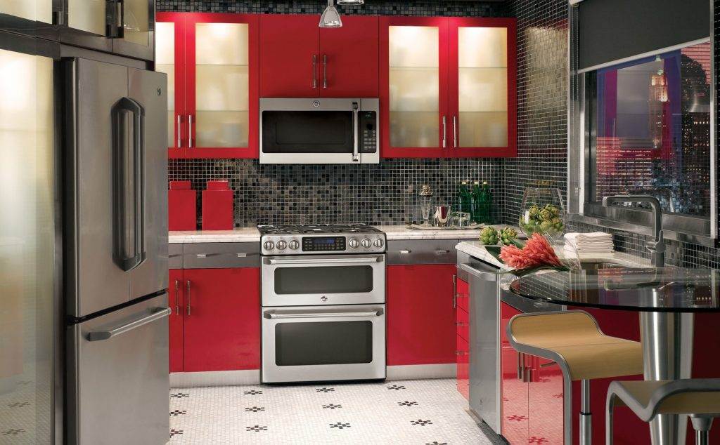 red kitchen for normal family