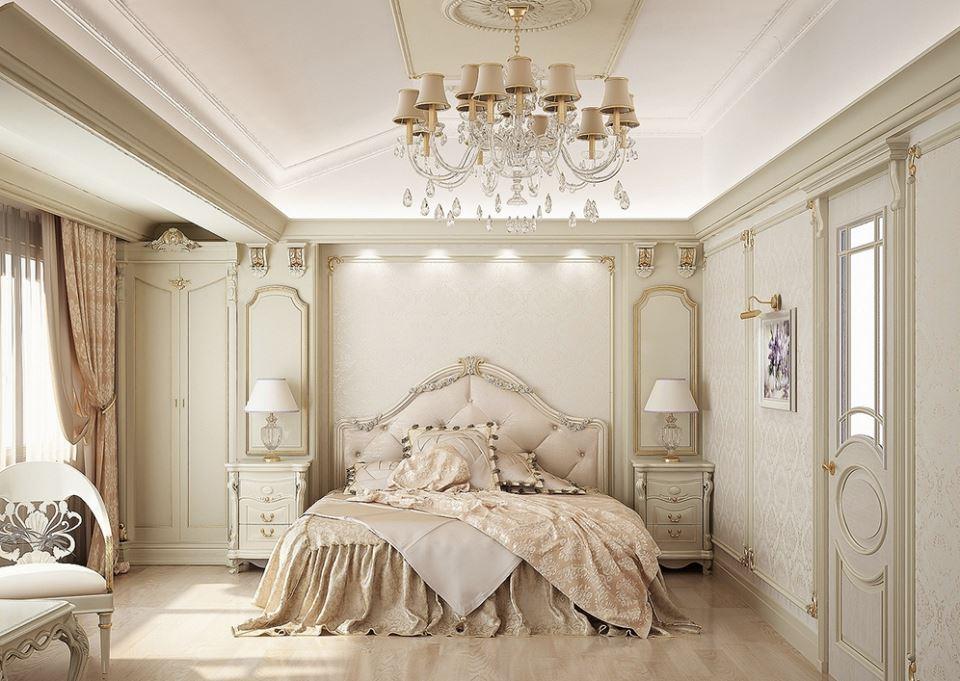 French luxury bedroom design