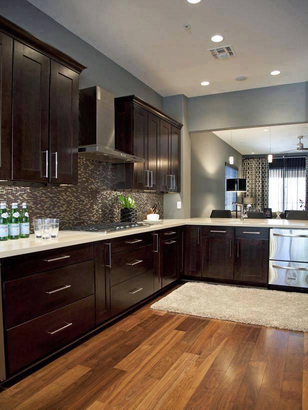 Blue grey paint kitchen