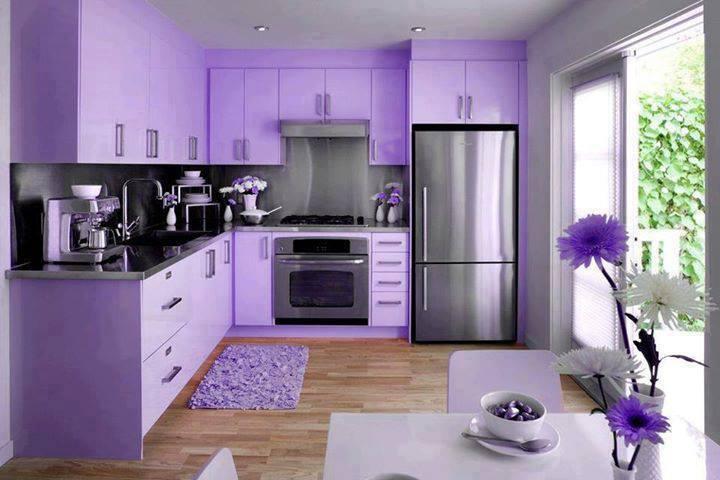 Violet kitchen design idea