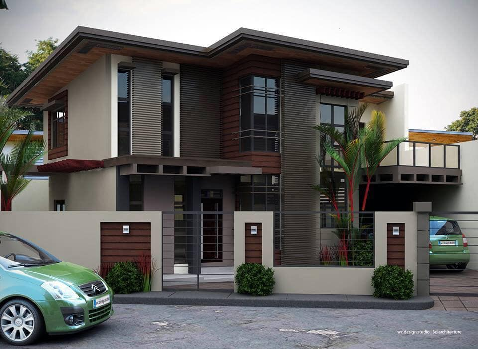 2-Storey house with a balcony