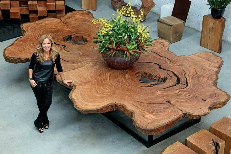 Wooden table design - Natural dining table design