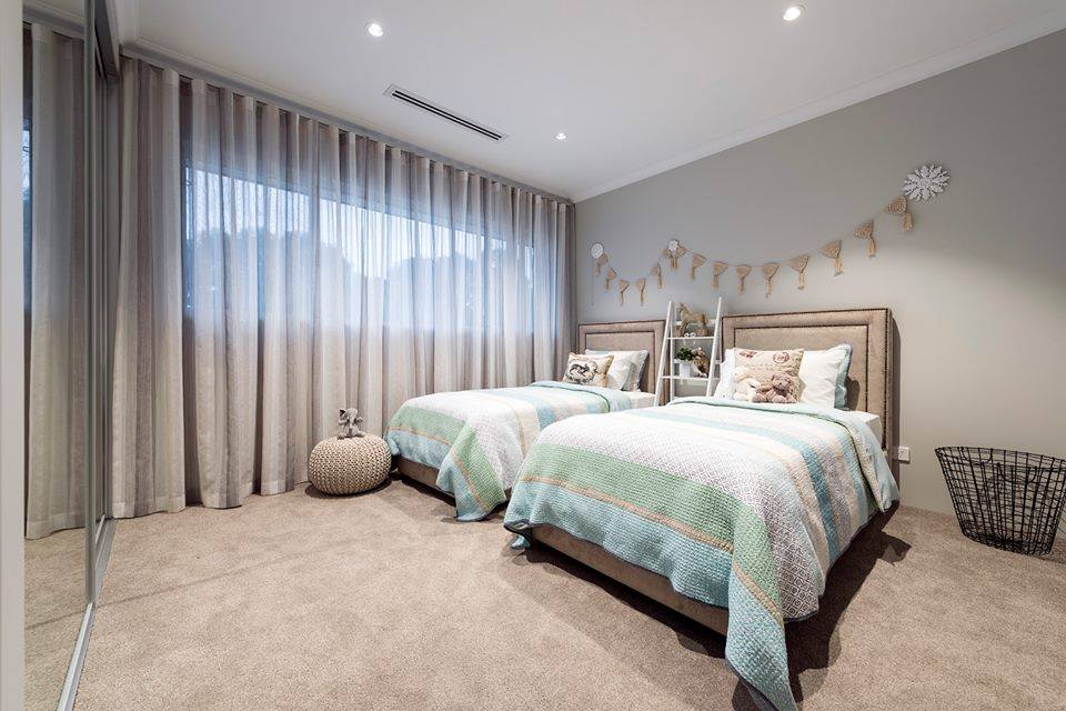 Two bedrooms for kids design