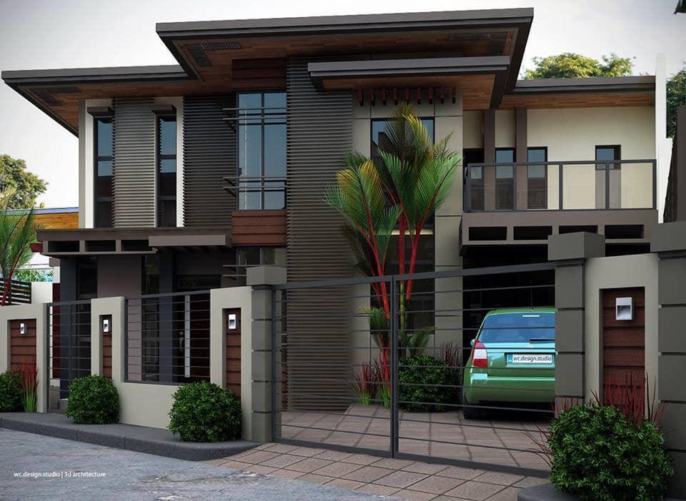 Modern house design outside