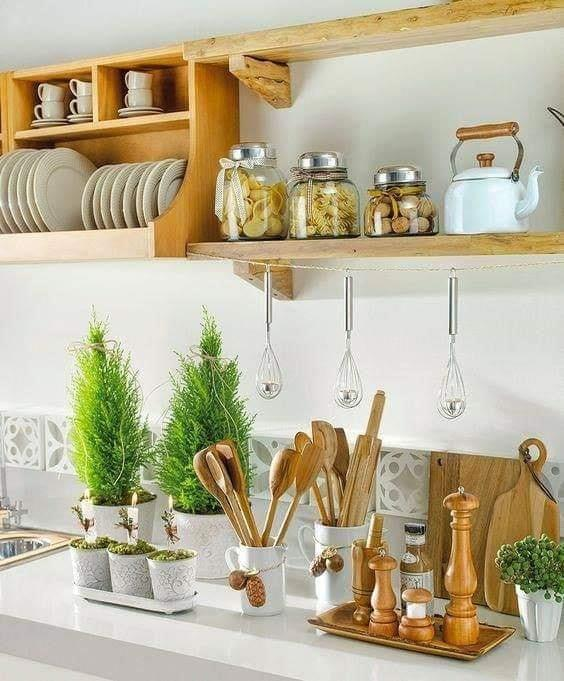 Exclusive kitchen shelf design