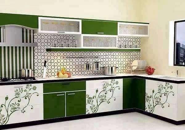 Floral kitchen furniture design