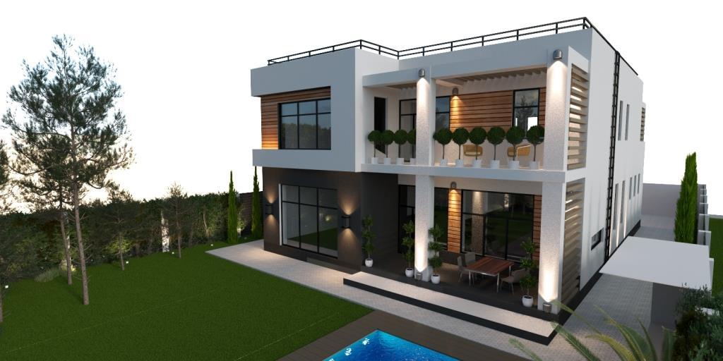 Computer villa plan concept