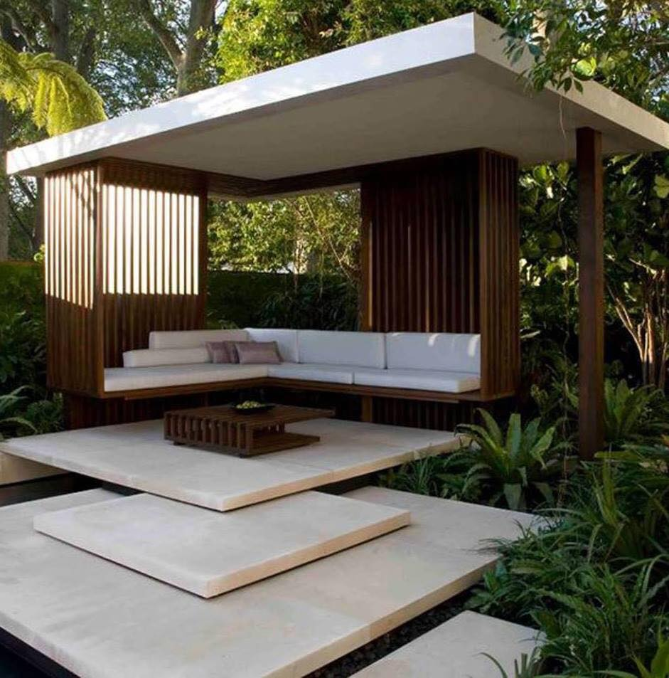 Outdoor modern pavilion design