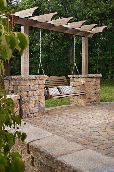 Outdoor swing for backyard
