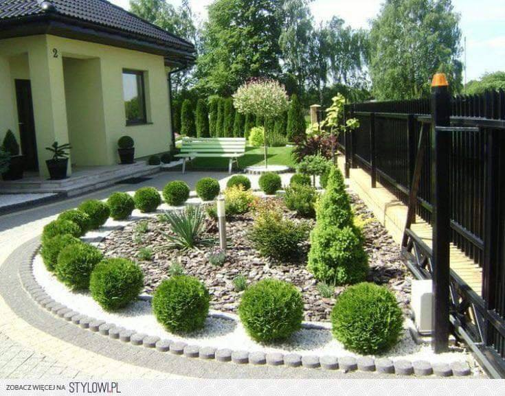 Garden design for front yard