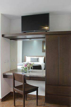 Bedroom cabinet and TV