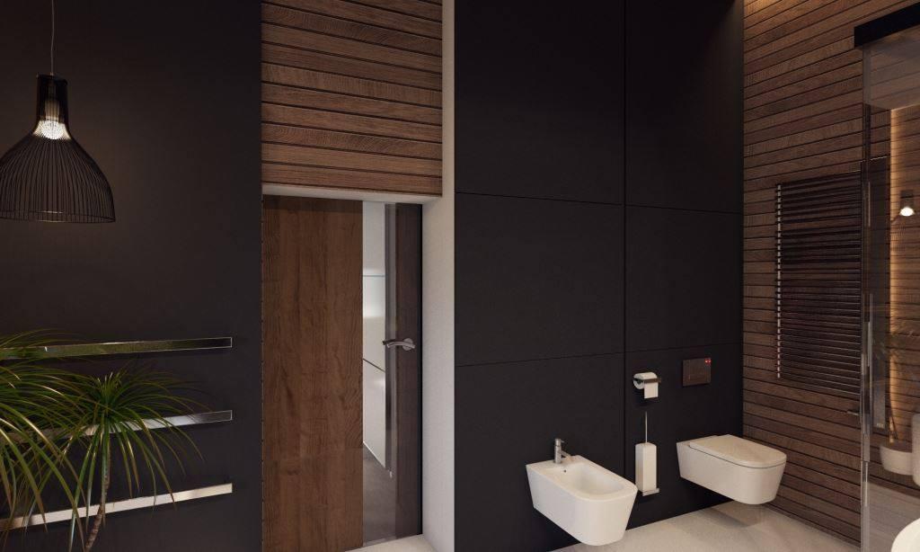 Bathroom of a modern villa interior design