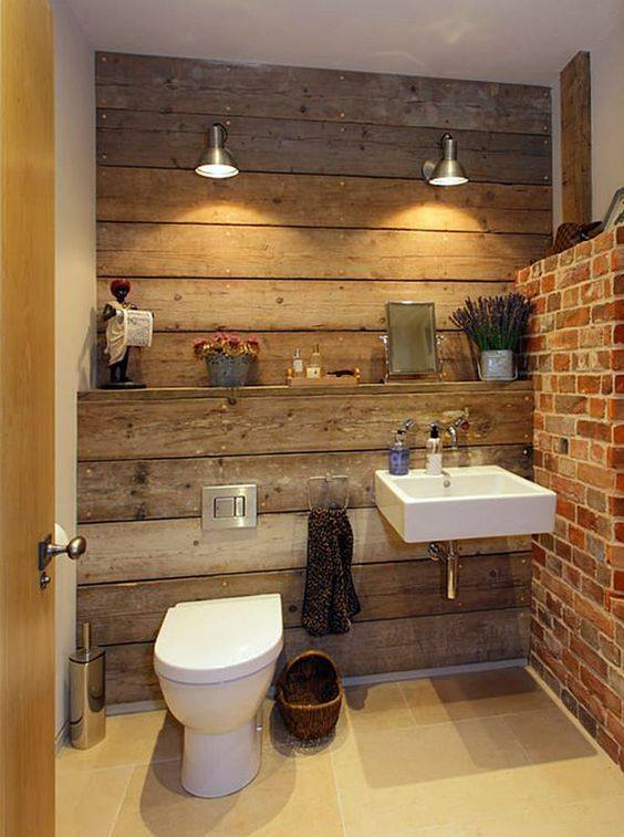 Old-style bathroom design idea