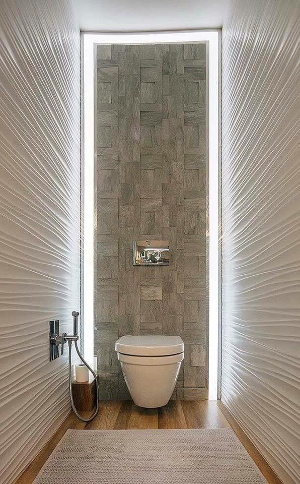 Wall hung toilet design idea