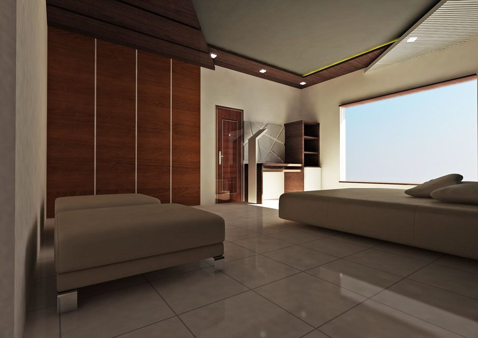 Interior design for a bedroom