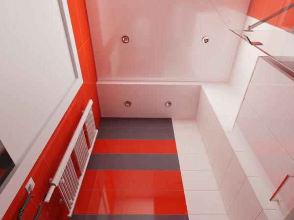 Ceiling of an apartment bathroom