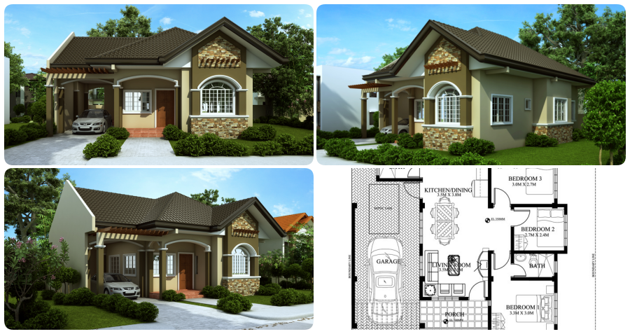 Bungalow House Plan 90 S Q M My Home My Zone